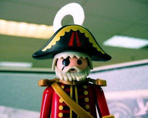 The Boat Captain pirate like figurine