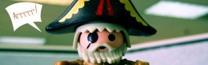 cartoon-like pirate figurine