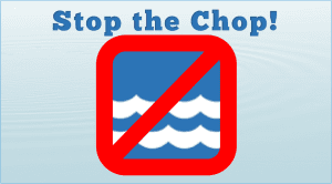 sign saying stop the chop