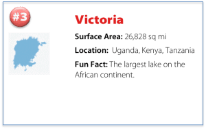 facts about lake victoria including surface area, location, and a fun fact