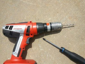 drill and phillips screwdriver
