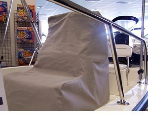 light gray custom console cover for boston whaler montauk