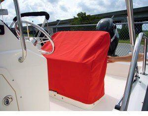 red seat cover for boston whaler