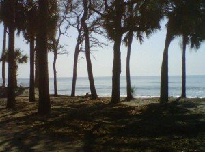 Hunting Island State Park beachfront campsite