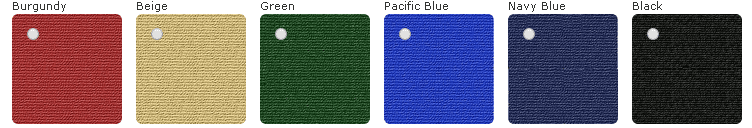 color swatches for available fabrics for automatic bimini top or power arm