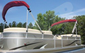 Large pontoon boat