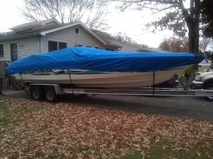 Kenneth's Scarab boat cover