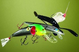 colorful bass lures