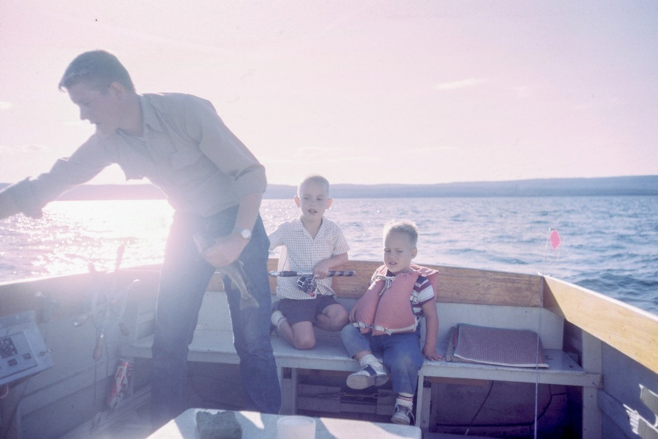 Father's Day on boat