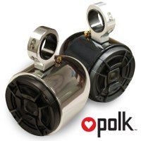 "Polk Polished Single Barrel Speakers- One Pair, 2.5"" Clamps"