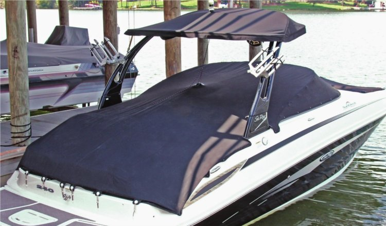 Hangtyte boat cover suspension system