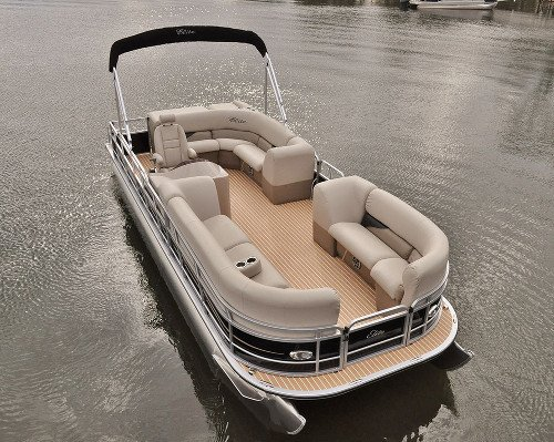 Infinity Flooring on Pontoon Boat