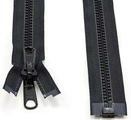 Marine Grade Double Pull Metal Zipper