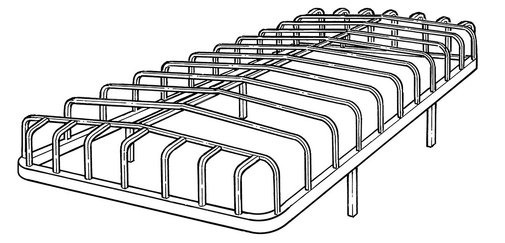 Line Art for Hewitt (flared ends) Style Boat Lift Canopy Frames