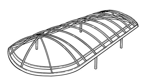 Line Art for Newman Style Boat Lift Canopy Frames
