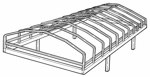 Line Art for Porta-Dock Style Boat Lift Canopy Frames
