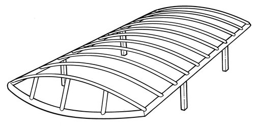 Line Art for a ShoreStation, LSP, Nucraft Style Boat Lift Canopy Frames