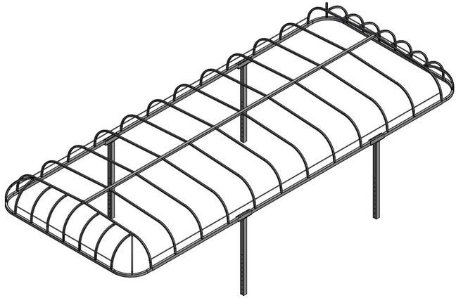 Line Art for ShoreMaster Style Boat Lift Canopy Frames