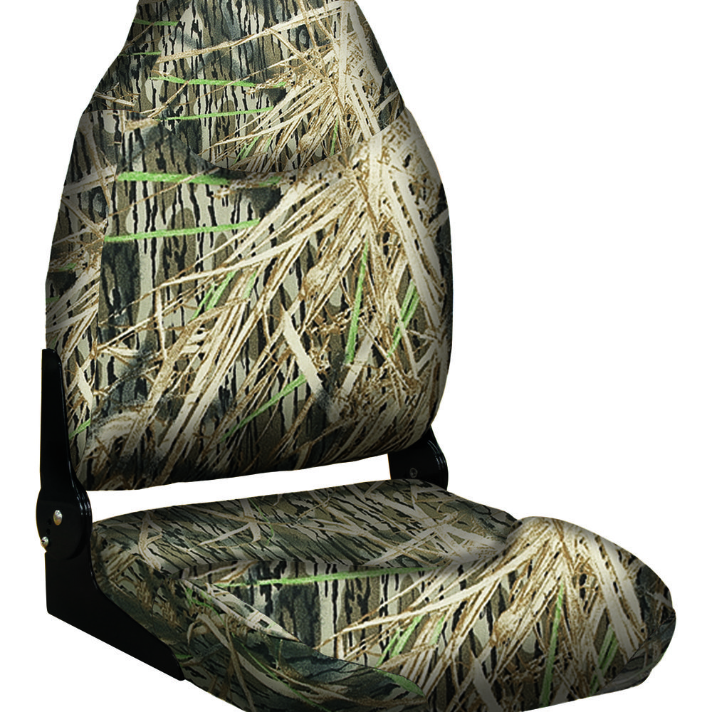 8wd726pls Camouflage Camo Mid Back Mid Backed Folding Seat