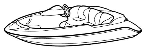 Line art of the Jet Boat boat style