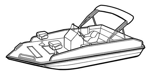 Line art of the Modified V Performance Deck Boat boat style