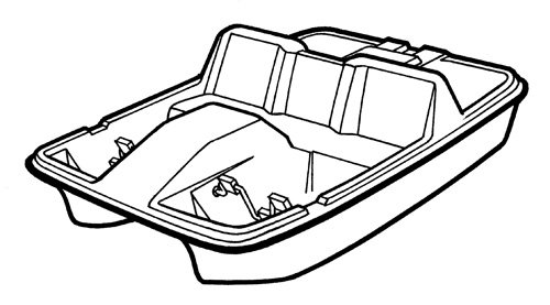 Line art of the Paddle Boat boat style