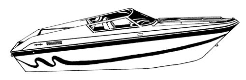 Line art of the Performance Style Boat boat style