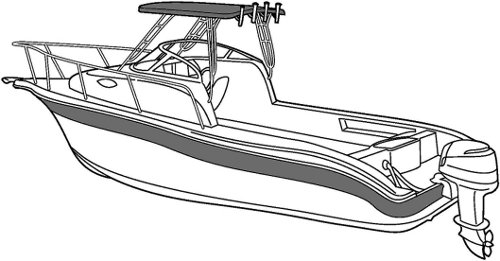 Line art of the Walk Around Cuddy Boat with Hard Top boat style