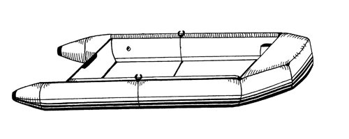 Line art of the Inflatable with Blunt Nose boat style
