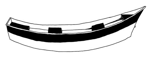 Line art of the Drift Boat with Bra boat style