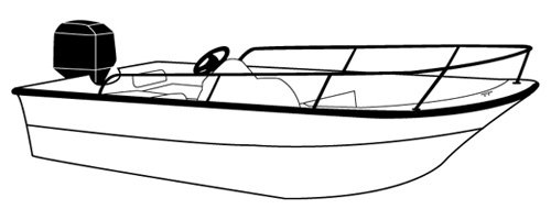 Line art of the Whaler Style Boat with Bow Rails boat style