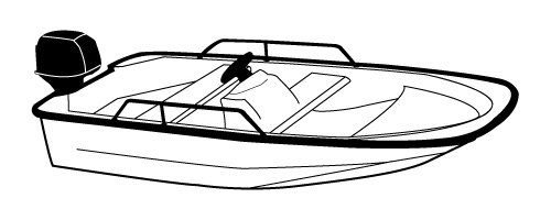 Line art of the Whaler Style Boat without Bow Rails boat style