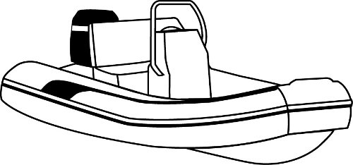 Line art of the Inflatable Blunt Nose with Small Center Console boat style