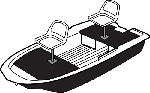 Line art of the Jon Boat - Molded Hull Series boat style