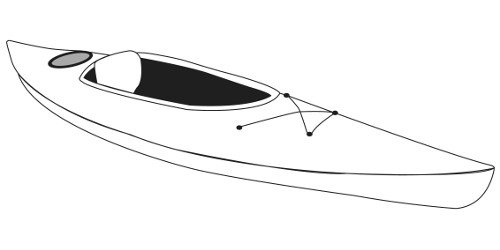 Line art of the Recreational Kayaks boat style
