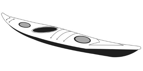 Line art of the Touring Kayaks boat style