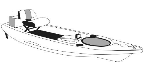 Line art of the Fishing Kayaks boat style