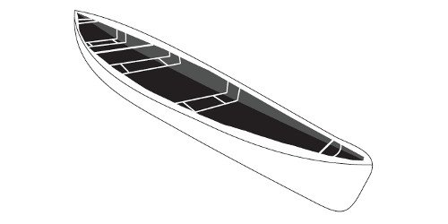 Line art of the Canoes boat style