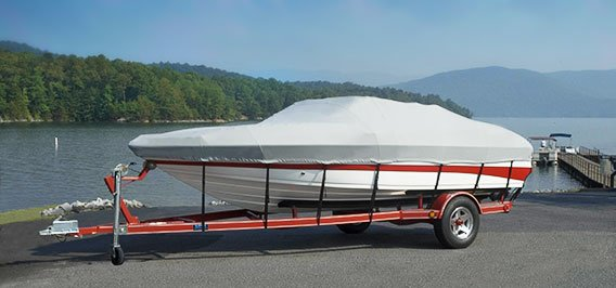 Boat with a Custom Carver Cover