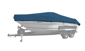 Boat with a Select Fit Westland Boat Cover