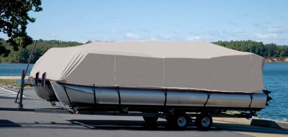 pontoon with cover