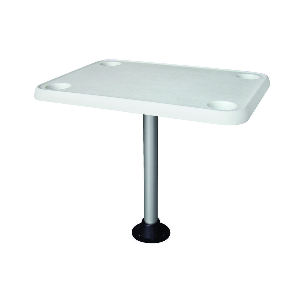8wd944 Table Rectangular With 4 Cup Holders And Pedestal