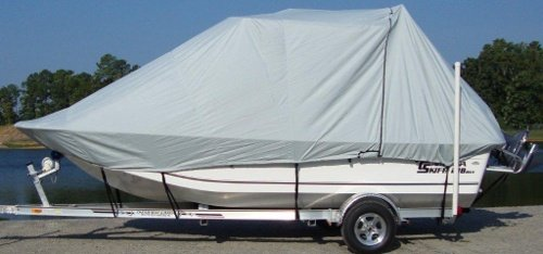 DEHT Boat with a Rounded Bow Style Boat Cover by Carver