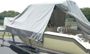 T-Top Boat with an Open Carver Boat Cover