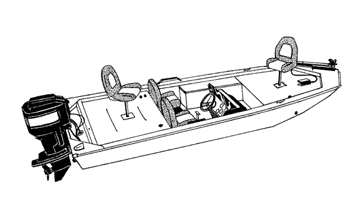 Illustration of a Jon Style Bass Boat