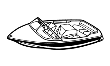 Illustration of a Tournament Ski Boat