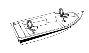 Illustration of a V-Hull Fishing Boat - Narrow