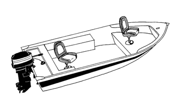 Illustration of a V-Hull Fishing Boat - Wide