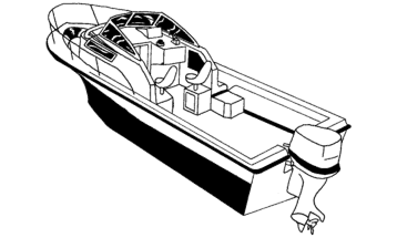 Illustration of a Walk Around Cuddy Cabin Boat