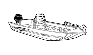 Illustration of a Modified V Jon Boat with High Center Console - Extra Wide